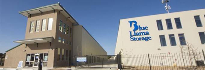 Blue Llama Sign