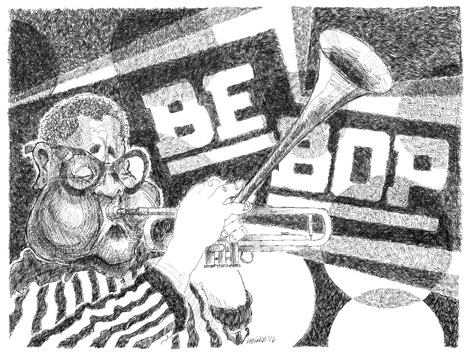 Dizzy Gillespie illustration