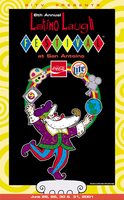 Latino Laugh Festival poster 2001