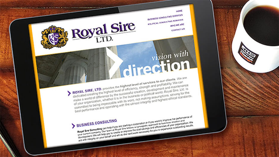 Royal Sire | Website Design