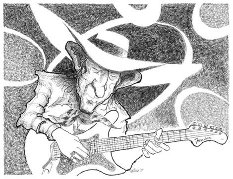 Stevie Ray Vaughn illustration
