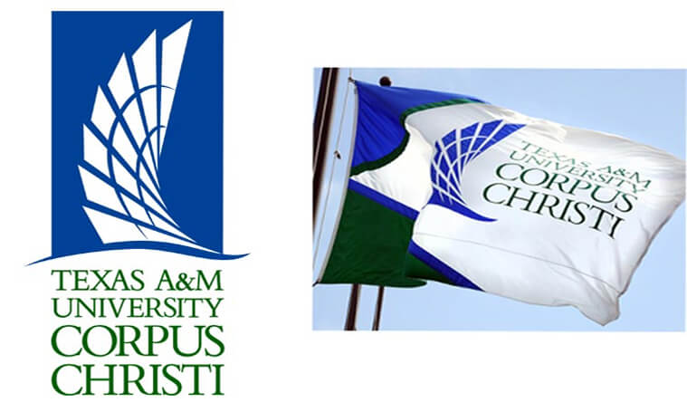 Texas A&M Corpus Christi University Logo and flag