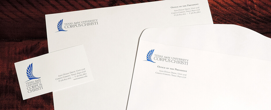 Texas A&M Corpus Christi University stationery