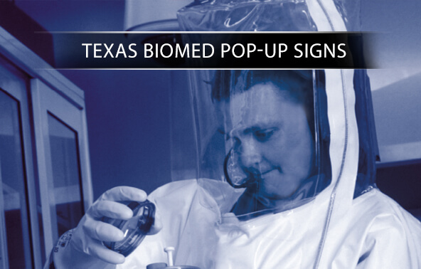Texas Biomed Pop-Up Signs portfolio logo