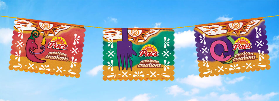 Pace Mexican Creations hanging banners