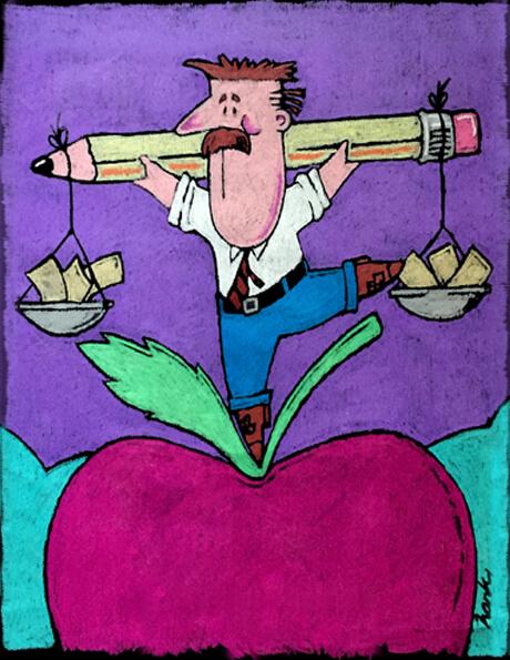 Education funding illustration