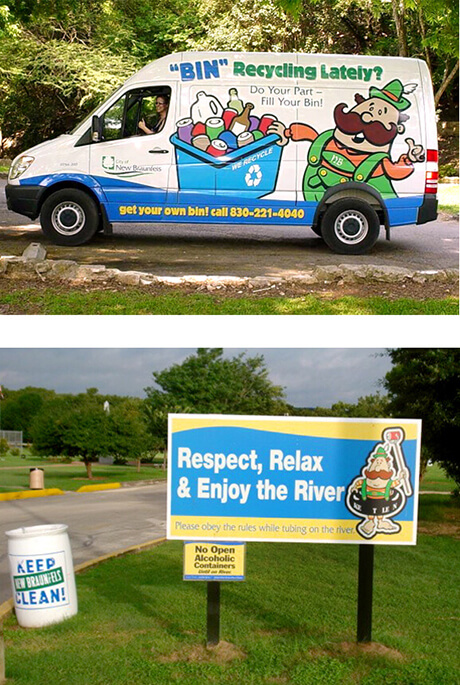 Keep New Braunfels Clean van and sign